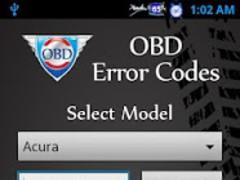 OBD Error Codes 1.2.1 Screenshot