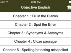 Objective English for SSC 1.0 Screenshot