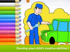 Occupations - Living Coloring Free 1.1 Screenshot