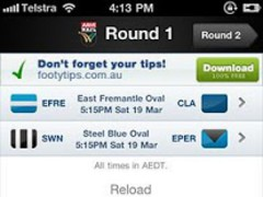 Official WAFL App 2.1 Screenshot