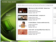 OneClick Video Switch 7.8.5 Screenshot