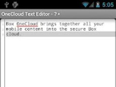OneCloud Text Editor  Screenshot