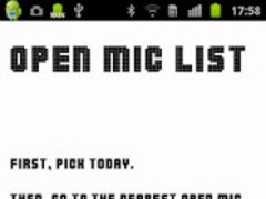 Open Mic List 3.7.3 Screenshot