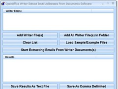 OpenOffice Writer Extract Email Addresses From Documents Software 7.0 Screenshot