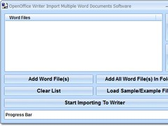 OpenOffice Writer Import Multiple Word Documents Software 7.0 Screenshot