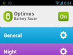 Optimus Battery Saver FREE 1.5 Screenshot