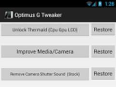 Optimus G Tweaker - G Tools 1.2.1 Screenshot
