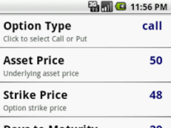 Options Calculator 1.0 Screenshot