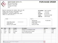 OrderGen Purchase Order Form 1.0.1.45 Screenshot
