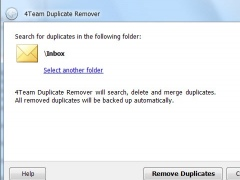 Outlook Duplicate Remover 3.40 Screenshot