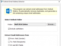 Outlook Email Address Extractor 8 Screenshot