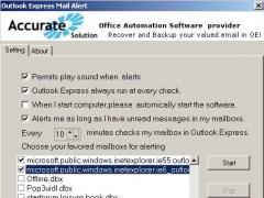 Outlook Express Mail Alert 2.1 Screenshot