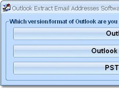 Outlook Extract Email Addresses Software 7.0 Screenshot