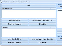 Outlook Generate Emails From Lists Software 7.0 Screenshot