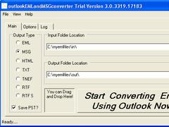 outlookEMLandMSGconverter 3.3 Screenshot