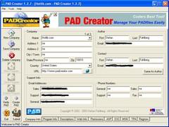 PAD Creator 2.0.1 Screenshot