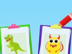 Paint & Dress up your animals- drawing, coloring and dress up game for kids 1.0 Screenshot