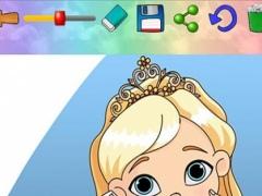 Paint princesses for girls 3606 Screenshot
