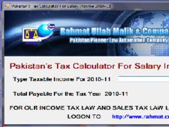 Pakistan's Tax Calculator 2010-11 1.0 Screenshot