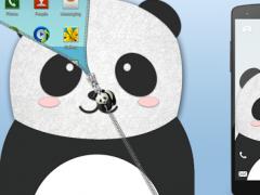 Panda Zipper Screen Lock 1.0.2 Screenshot