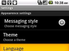 Easy SMS Korean language 1.8 Screenshot