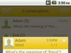 Easy SMS solid Yellow theme 1.0 Screenshot