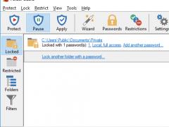 Password Protect Folder Guard 8.2 Screenshot
