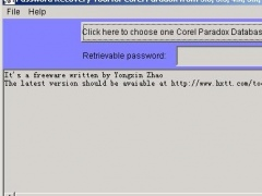 Password Recovery for Corel Paradox 1.0 Screenshot