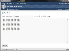 Pastebin Desktop 1.0 Screenshot