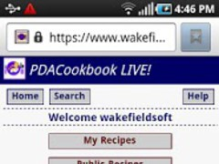 PDACookbook LIVE! 1.0 Screenshot