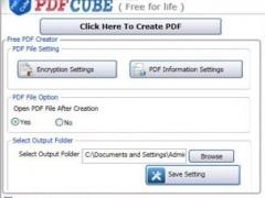 Free PDF Cube 1.0 Screenshot