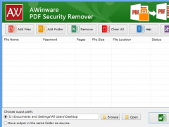 Unlock Lost Owner Password of Pdf 1.0.1.6 Screenshot