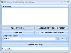 PDF Reduce Size Of Multiple Files Software 7.0 Screenshot