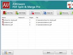 AWinware Merger Splitter for Pdf 1.0.1.4 Screenshot