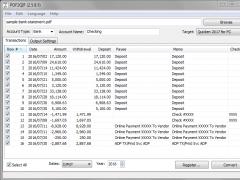 PDF2QIF 3.0.7.7 Screenshot