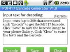 PDF417 Barcode Generator 1 0 1 Free Download