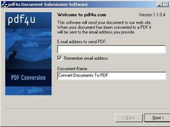 pdf4u Printer 1.1.0.4 Screenshot