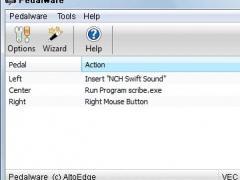 Pedalware Foot Pedal Software 1.00 Screenshot