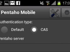 Pentaho Mobile Client 1.1 Screenshot