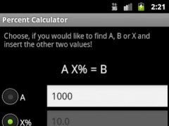 Percentages calculator 3 Screenshot
