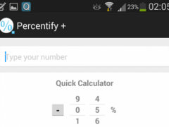 Percentify + 1.0 Screenshot