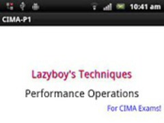 Performance Operations CIMA P1 1.1 Screenshot