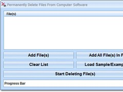 Permanently Delete Files From Computer Software 7.0 Screenshot