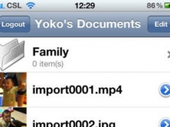Personal Files for iPhone 1.0 Screenshot