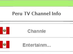 Peru TV Channel Info 1.0 Screenshot