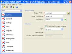 CreateInstall Light 4.6.5 Screenshot