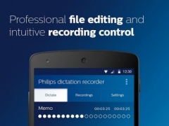 Philips voice recorder 3.0.12 Screenshot