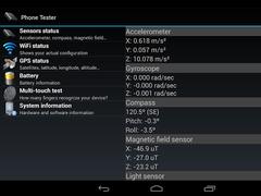 Phone Tester (hardware info) 2.0.14 Screenshot