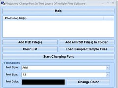 Photoshop Change Font In Text Layers Of Multiple Files Software 7.0 Screenshot
