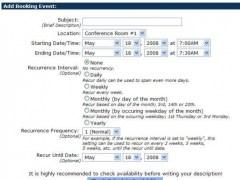 PHP Booking Calendar 10e Screenshot